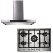 Kit Brastemp Gourmand 220V - Cooktop a Gás 5 Queimadores + Coifa De Parede 90Cm - BDK75DRBNA + BA790BRRNA -