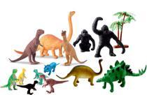 Kit Brinquedo 15 pcs Animal Dinossauros Coleção Miniatura - Toy King