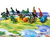 Kit Brinquedo 17 peças Animal Dinossauros Coleção Miniatura - Toy King