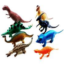 Kit Brinquedo 8 peças Animal Dinossauro Tiranossauro Coleção - Toy King