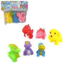 Kit Brinquedo De Vinil Hora Do Banho Bebe Dinossauros - Ark Toys