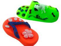 Kit Brinquedo Pet Chinelo Cachorros Mordedores Sonoros 2unid - Fisgar