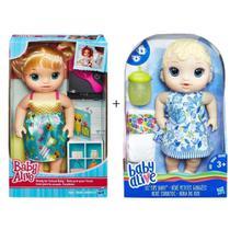 Kit Brinquedos Baby Alive Com 1 Boneca Escolinha + 1 Boneca Hora Do Xixi Hasbro -