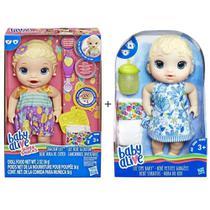 Kit Brinquedos Baby Alive Com 1 Boneca Lanchinhos Divertidos + 1 Boneca Hora Do Xixi Hasbro -