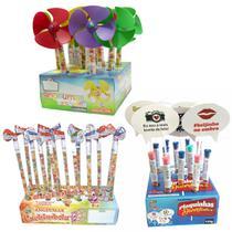 Kit Brinquedos Catavento Doce Balinha Lembrancinha P/ Festa - Angeumar