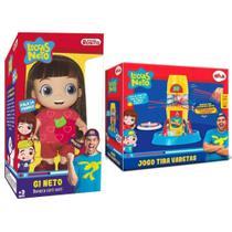 Kit Brinquedos Com 1 Boneca Gi Neto 14 Frases + 1 Jogo Tira Varetas Luccas Neto - Rosita