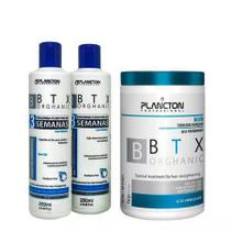 Kit BTX Orghanic Plancton Shampoo, Condicionador e Alisante 1kg -