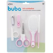 Kit Buba Higiene Bebê , Tesoura, Cortador, Pente, Escova -