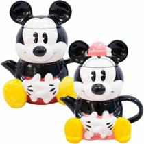 Kit Bule E Caneca Mickey E Minnie Disney Original 720 Ml - Drina