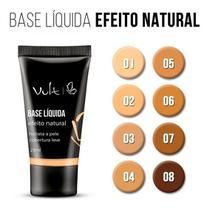 Kit c/ 06 unidades base liquida efeito natural n. 07 vult - 25ml - Vulti