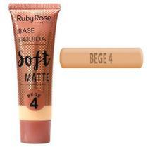 Kit c/ 06 unidades base liquida soft matte bege 4 ruby rose -