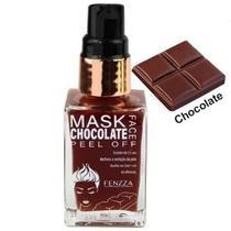 Kit c/ 06 unidades máscara facial peel off - fenzza chocolate -