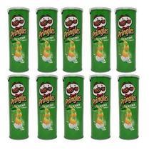 Kit C/10 Batatas Pringles 120g - Sabor Creme Cebola 120g -