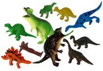 Kit c/ 10 Bonecos Animais Jurássicos Dinossauros - 129582 - Ark Brasil -