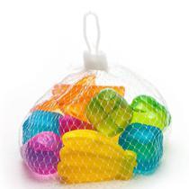 Kit c/10 cubos de gelo artificial ecológico colorido reutilizável - Wincy