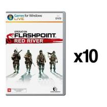 Kit C/ 10 Jogos p/ PC Operation Flashpoint Red River DVD Mídia Física - Codemasters