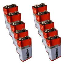 Kit C/ 10 Pilhas Baterias 9v Multitoc 6f22 -