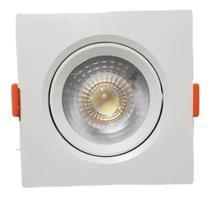 Kit C/ 10 Spot Led 5W Embutidor Direcional - Quadrado Branco Frio - DUBAI