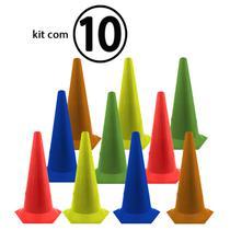 Kit C/ 10 Unidades Cone Agilidade 50cm Rythmoon -