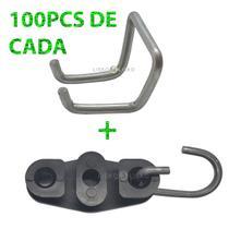 KIT c/100 Anel Guia Agf0003 4,10mm + 100 Esticador FE (drop) - Multtioc