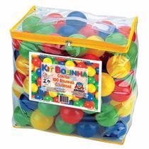 Kit c/ 100 bolinhas pacote - colorida - Braskit