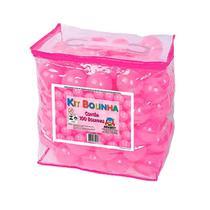 Kit c/ 100 bolinhas pacote rosa - Braskit