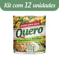 Kit c/ 12 Ervilha E Milho Quero Lata 170g -