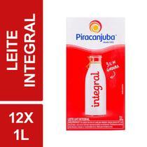Kit C/ 12 Leite Longa Vida Integral Uht Piracanjuba 1l Tetra Pak -