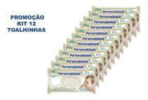 Kit C/12 Lenço Umedecido Personalidade Baby C/100 Toalhinhas - Eurofral