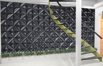Kit C/ 12 Placas Revestimento Parede Alto Relevo Painel 3d Petalas Plus Preta  (3m2) - Mas Lar