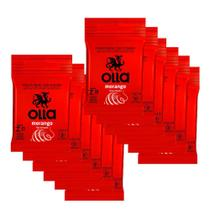 Kit c/ 12 Preservativo OLLA Lubrificado Sabor Morango 3 unidades -