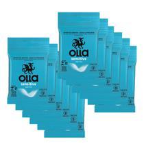 Kit c/ 12 Preservativo OLLA Lubrificado Sensitive 3 unidades -