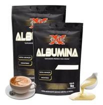 Kit C/ 2 Albumina Refil 1k Xlab (2 K) Excelente sabor Baunilha Toffe -