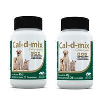 Kit c/ 2 Cal-d-mix Vetnil Cães E Gatos - 30 Comprimidos -