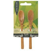 Kit c/2 colheres para café 14cm em bambu tyft yoi -