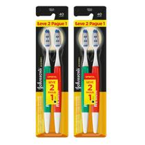 Kit c/ 2 Escovas Dental Johnson's Accsses Cabo Gde - Cerda Média L2P1 -