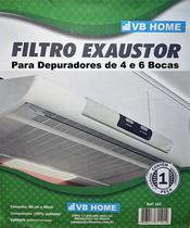 Kit c/ 2 - Manta Filtro Para Depurador de 4 ou 6 Bocas - Vb Home