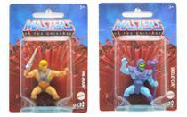 Kit c/ 2 Mini Figuras He-Man e Esqueleto - Masters of the Universe - Mattel -