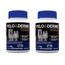 Kit c/ 2 Pelo E Derme Gold 60 Comprimidos - Vetnil