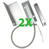 KIT C/2 Sensor Magnético P/portas De Aço Sp C/fio Cantoneira - Multitoc