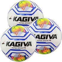Kit C/ 3 Bolas Infantis Kagiva F5 PRO Sub 11 Futsal -