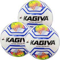 Kit C/ 3 Bolas Infantis Kagiva F5 PRO Sub 7 Futsal -