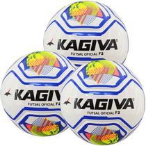 Kit C/ 3 Bolas Infantis Kagiva F5 PRO Sub 9 Max 100 Futsal -