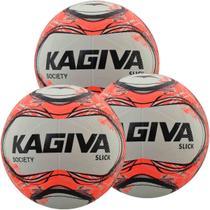 Kit C/ 3 Bolas Kagiva Slick Society Tech Fusion Impermeável -