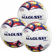 Kit C/ 3 Bolas Magussy Premier Special Line 500 PU Futsal -