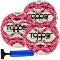 Kit C/ 3 Bolas Topper Slick Society Tech Fusion Impermeável + Bomba -