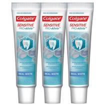 Kit C/ 3 Cremes Dentais Colgate Sensitive Pro-Alívio Real White 50g -