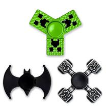 Kit c/ 3 Fidget Hand Spinner - Minecraft + Batman + Martelo do Thor ( Metal ) - honey