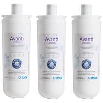 Kit c/ 3 Filtros Refil Avanti p/ Purificador de Água IBBL -