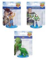 Kit c/ 3 Mini Figuras Toy Story 4 - Woody, Buzz e Rex - Mattel -